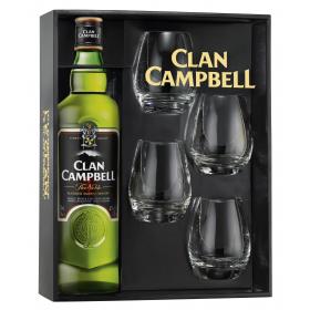 Coffret Clan Campbell avec 4 verres