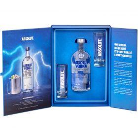 Coffret Absolut Vodka Blue avec 2 verres