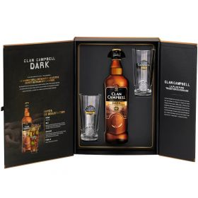 Coffret Clan Campbell Dark avec 2 verres